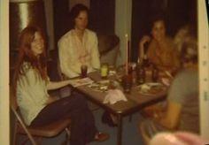 Jim Morrison Pamela Courson and friends, Jim's last Thanksgiving, 1970.  Pam's apartment on Norton, West Hollywood