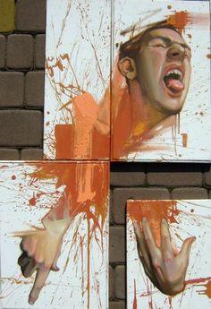 Polish graffiti artist, Przemek Blejzyk (aka Sainer)