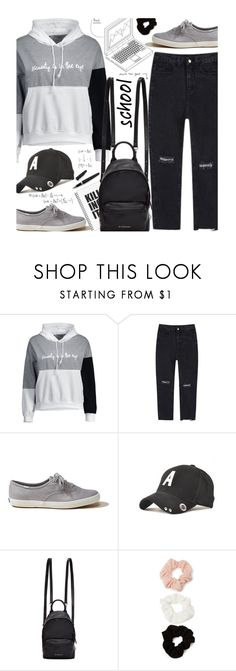 """School"" by beebeely-look ❤ liked on Polyvore featuring Hollister Co., Givenchy, Forever 21, Fountain, school, schoolstyle, Hoodies, back2school and twinkledeals"