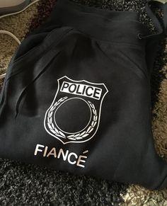 Police Fiance Sweatpants by CasiCustoms on Etsy