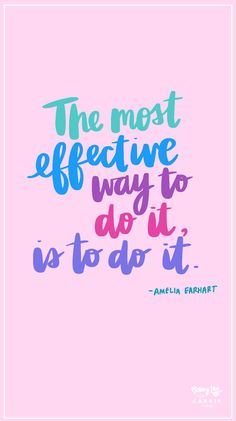 The Most Effective Way is to Just Do It - Carrie Colbert Positive Thoughts, Positive Vibes, Positive Quotes, Pink Quotes, Me Quotes, Real Talk Quotes, Quotes To Live By, Just Do It Wallpapers, Motivational Words