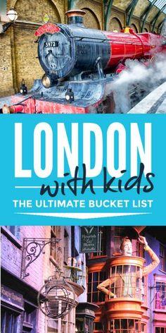 London With Kids Bucket List