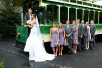 Carly wearing an Anjolique wedding gown