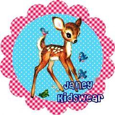 Bambi strijkapplicatie ( roze)