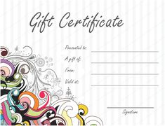 gift certificates templates 275 best Beautiful Printable Gift Certificate Templates images on .