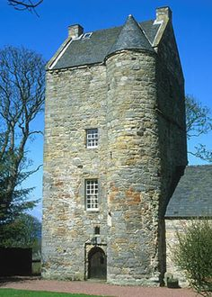 Cramond Tower ~ About 4 miles west and north of Edinburgh Castle, is Cramond Tower a tall narrow 16th century tower house. It is located in the picturesque village of Cramond and now the home of the Scottish Wildlife Trust..
