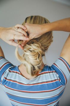 How to Do the Messy Bun Double Dutch Braid | LaurenConrad.com