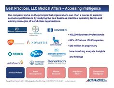 Medical Affairs 2013 Consortium by Best Practices, LLC via Slideshare