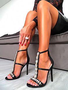 8f3ec8a133f5 1969 Italia Boutique Luxus High Heels Sandal  1969italiaboutique   Blackhighheels
