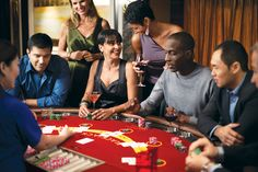 Test your luck at the casino on board Norwegian ships!