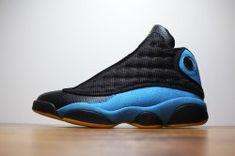 c9a3f4741740ac Nike Air Jordan 13 XIII Retro CP3 Chris Paul PE Black Blue 823902 015  Basketball Shoes mens Authentic Sports Shoes