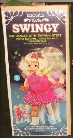 MATTEL: 1968 SWINGY Dancing Doll