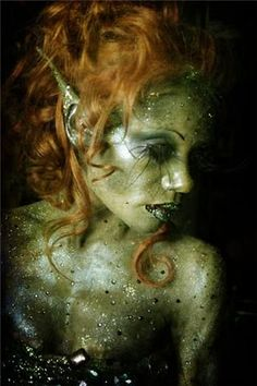 Mermaid? Fae? Possibilities are endless with this amazing makeup. | See more about Alien Makeup, Aliens and Makeup.