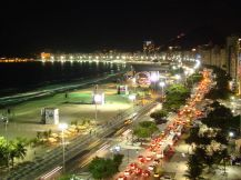 Copacabana at night, Brazil
