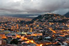 Remarkable image of Overview Of The Historical Center Of Quito At Sunset Equador Places To Travel, Travel Destinations, Places To Go, Vacation Places, Equador Quito, Quito Ecuador, Galapagos Islands, Pacific Beach, Quites