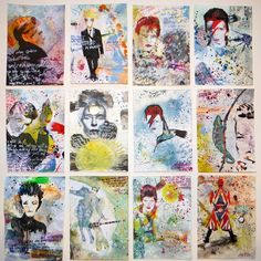 The David Bowie art exhibition you need to see - Bowie artwork by Alvaro Petritoli - David Bowie Tribute, David Bowie Art, David Bowie Fashion, Art For Sale Online, Affordable Art Fair, Ziggy Stardust, Hanging Art, New Art, Arts And Crafts