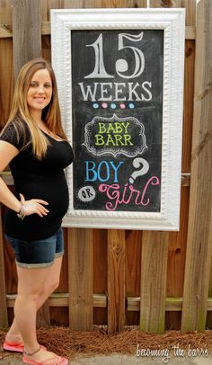 Pregnancy tips and guides Pregnancy Chalkboard Tracker, Baby Bump Chalkboard, Chalkboard Ideas, Weekly Pregnancy Photos, Pregnancy Tips, 15 Weeks Pregnant, Getting Pregnant, Pregnancy Progression, Everything Baby