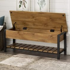 Entryway Bench Storage, Entry Bench, Bench With Shoe Storage, Rustic Storage Bench, Shoe Storage Chest, Hallway Shoe Storage Bench, Small Entryway Bench, Small Wooden Bench, Mudroom Storage Bench