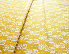 Cloud9 Fabrics Grey Abbey Folky Daisy Mustard