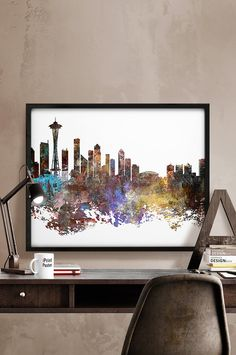 Hey, I found this really awesome Etsy listing at https://www.etsy.com/listing/234047793/seattle-skyline-seattle-cityscape