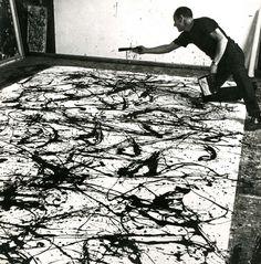 Pollock in action  c/o modern art with professor blanchard