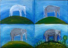 Malanleitung Elefant von Pinselstrich  auf DaWanda.com