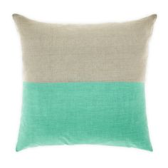 Mint Dipped Cushion | www.cravehome.co.nz