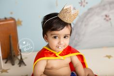 """I LOVE doing unique sessions that are very special to each family, when this Mom came to me with the idea of basing her son's Cake Smash session around the book, """"The Little Prince"""", I was totally in! My brain started working and I came up with a unique set that was both classy and based off of the…"""