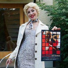 "Aurora Brännström as Marilyn Monroe. Poster for the show ""Happy Birthday Miss Monroe"" at Teaterstudio Lederman, Stockholm. 2016. Poster and photo: Ludvig Lundgren."