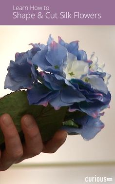 Before working with silk flowers, you need to breathe life into them so that they look as realistic as possible. Learn how to shape and cut them in this lesson.