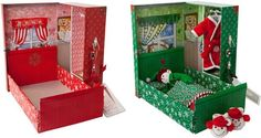 Bed in a Box--Create a bed for your elf! {Free template included}