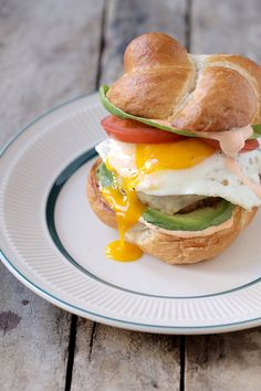 Pan-Fried Chorizo Burgers with Avocado, Fried Eggs and Spicy Mayo