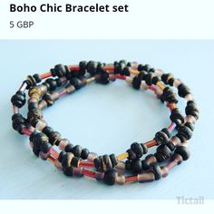 Handmade unique boho style beaded bracelet only available online at www.hippychickcreations.tictail.com