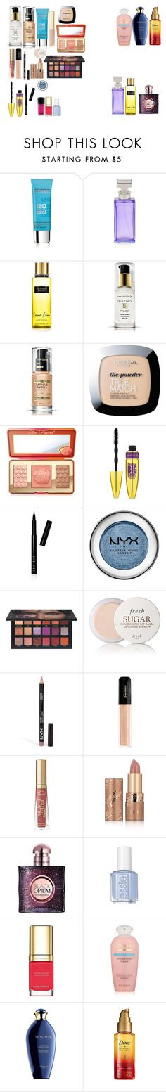 """beauty favourites of 2017"" by azra-99 on Polyvore featuring beauty, Givenchy, Calvin Klein, Victoria's Secret, Max Factor, L'Oréal Paris, Too Faced Cosmetics, Maybelline, Bobbi Brown Cosmetics and NYX"