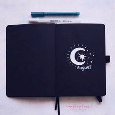 August setup in Archer & Olive Blackout book. Joing me as I do a simple and easy monthyly setup using just two pens! Bullet Journal 2020, Bullet Journal Notebook, Bullet Journal Aesthetic, Bullet Journal Inspiration, Scrapbook Journal, Journal Layout, Journal Pages, Bujo, Blackout Book