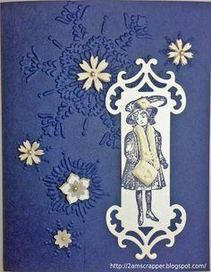 Helene's card--snowflake!