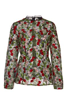 Aida Floral Embroidered Top by ALEXIS for Preorder on Moda Operandi