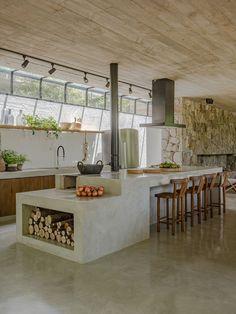 New Kitchen, Kitchen Decor, Sweet Home, Concrete Kitchen, Dream Home Design, Küchen Design, Interior Design Kitchen, Home Kitchens, Kitchen Remodel