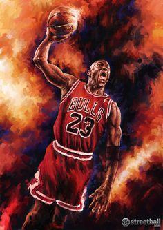 Michael Jordan Bulls Painting