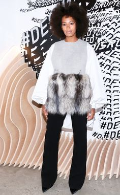 Solange Knowles from Stars at New York Fashion Week Spring 2016 | E! Online