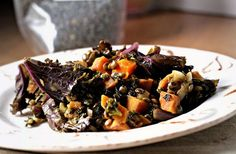 Spicy Lentils with Sweet Potatoes and Kale Recipe