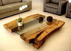 столик дерево стекло