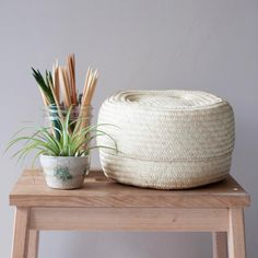Oaxacan Palm Basket - Natural