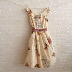 custom tea dress in neutral butterfly. $184.00, via Etsy.