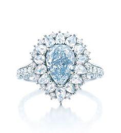 Tiffany & Co. 2014 Blue Book Blue Diamond Ring