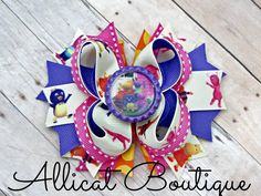 The Backyardigans boutique hair bow https://www.facebook.com/media/set/?set=a.897934796912431.1073741887.664051576967422&type=3