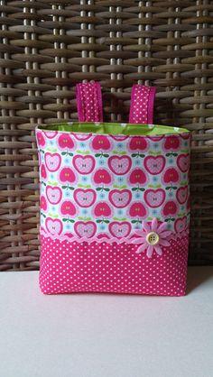 Lenkertasche*Apfel-Pink* von * Creative Happiness * auf DaWanda.com