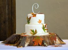 Make a Small Wedding Beautiful   Small wedding cakes can be beautiful. This fall themed ...   Wedding ...
