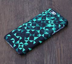 Mysterious Green And Black Geometric Pattern iPhone 6 Case/Plus/5S/5C/5/4S Case – Acyc