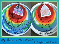 Kids Geography: My Place in this World with English and Spanish titles. Love this simple way to teach kids geography, and how they fit into the wider, global community. Geography Activities, Geography For Kids, Teaching Geography, World Geography, Multicultural Activities, Learning Activities, Kids Learning, Activities For Kids, Crafts For Kids